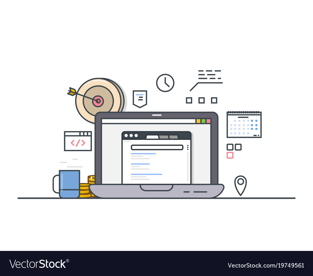 Online computer targeting vector image