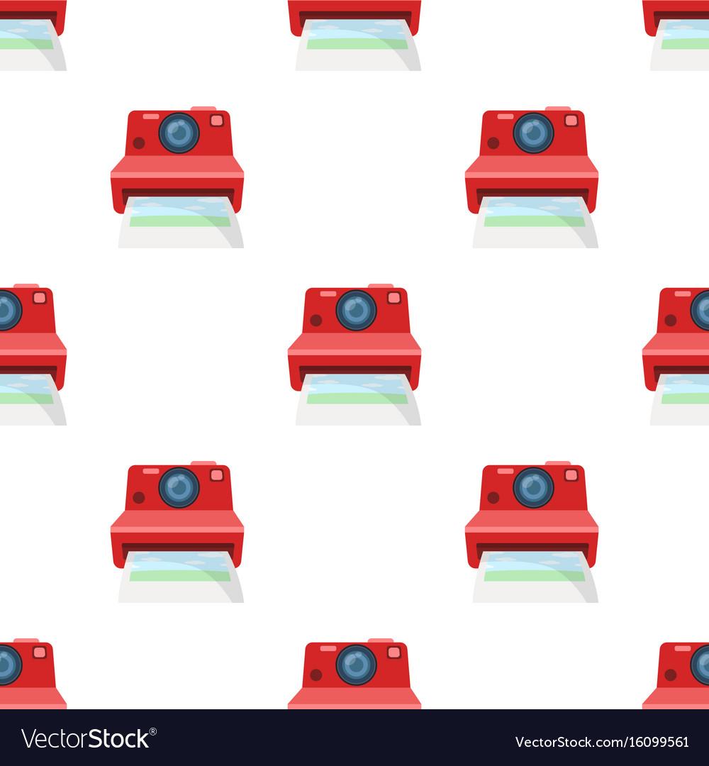 Retro photocamera icon in cartoon style isolated