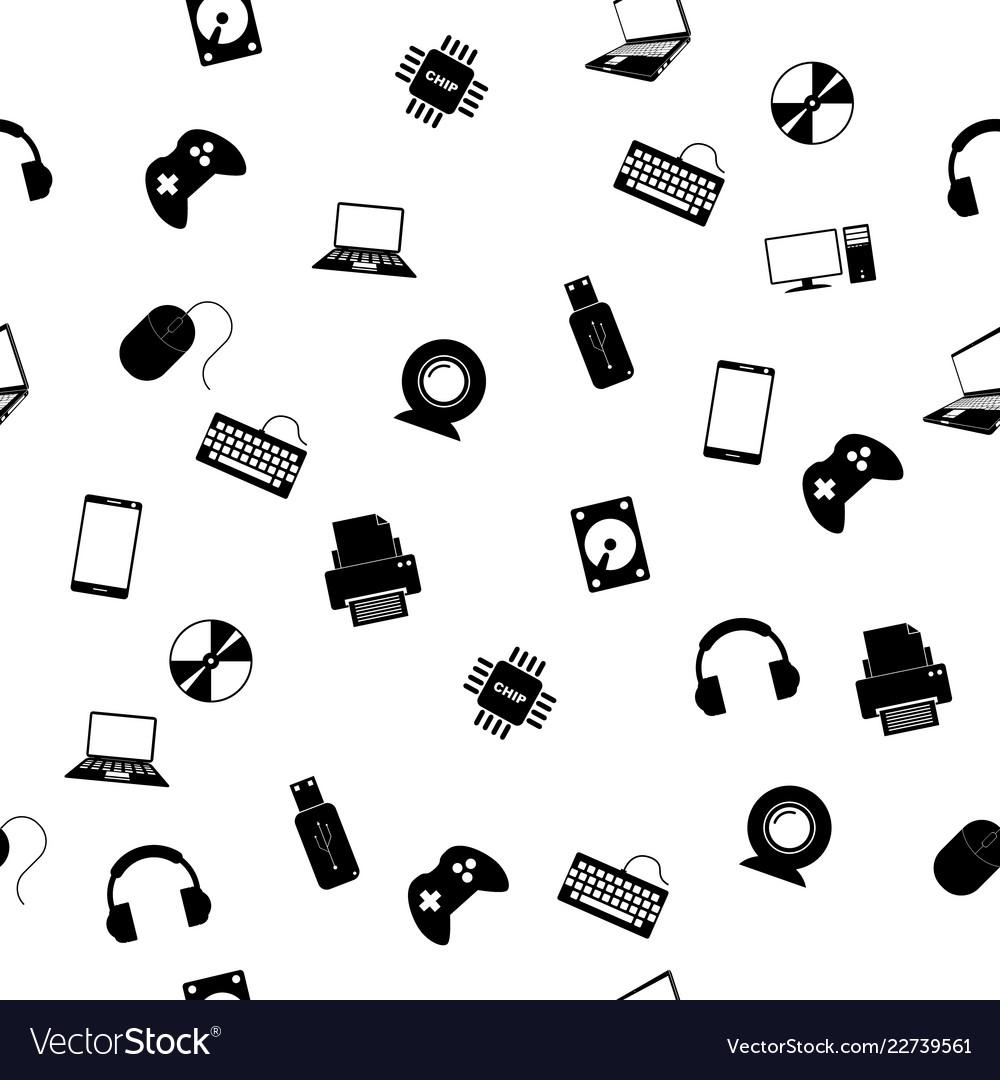 Seamless pattern with electronics