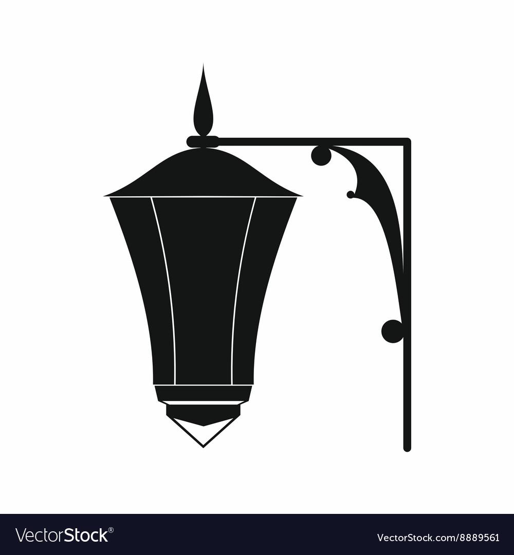 Street light icon simple style