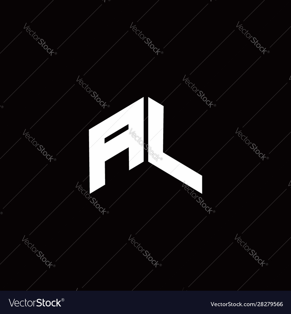 Al Logo Monogram Modern Design Template Royalty Free Vector