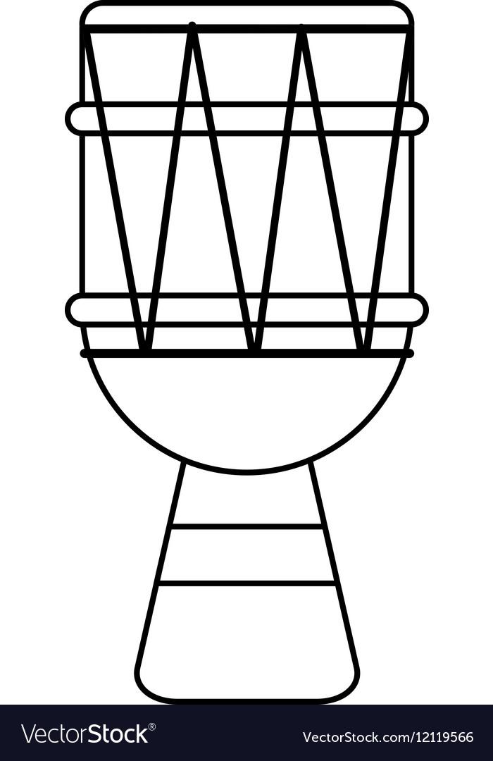 Brasilian drum percussion bongo outline
