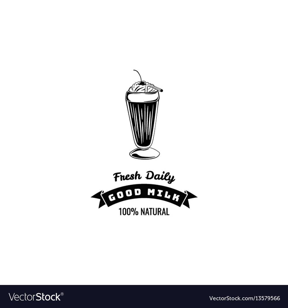 Classic milkshakes with cream in glass milk shake