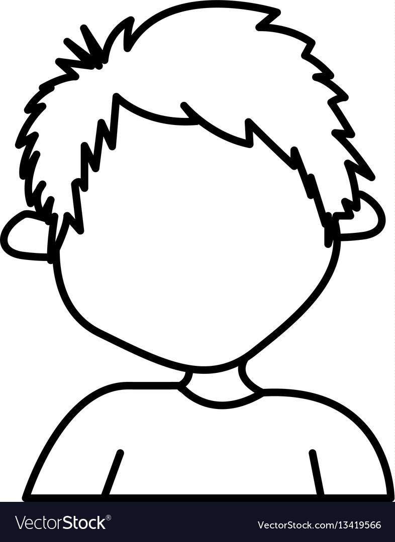 Figure sticker boy icon vector image