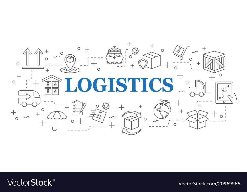 Logistics banner logistics with icons
