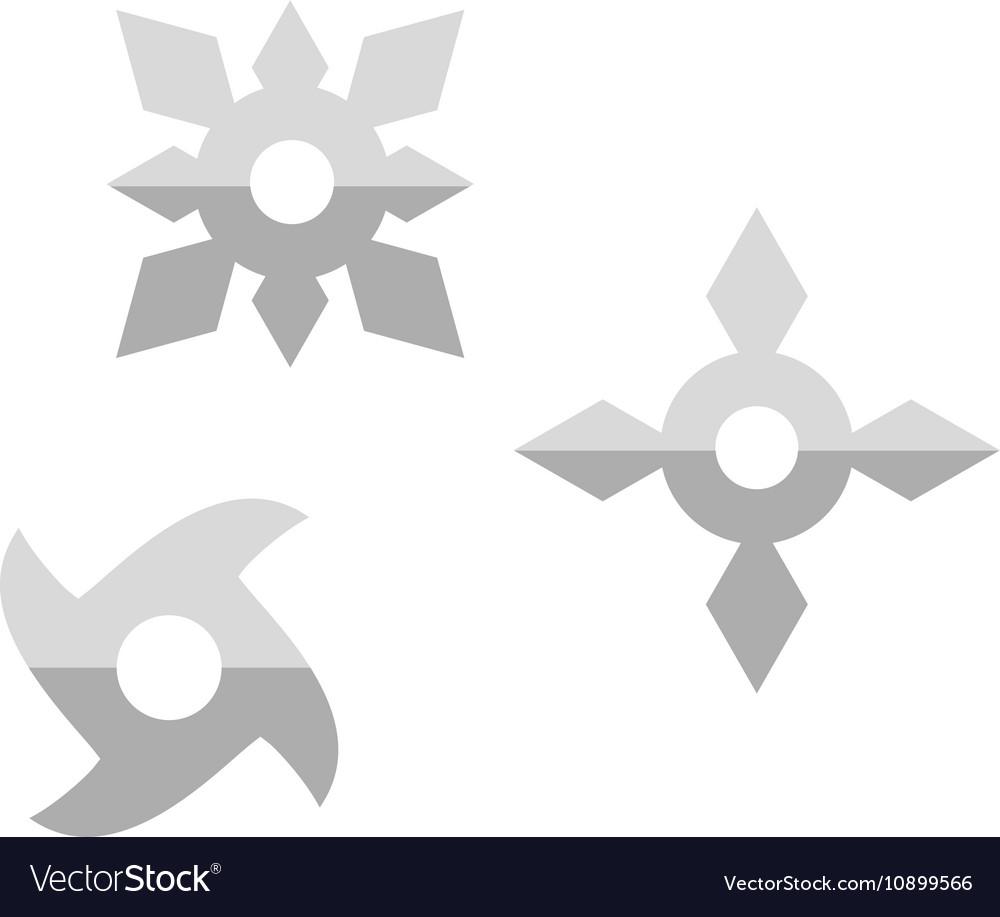 Ninja shuriken star weapon icon vector image