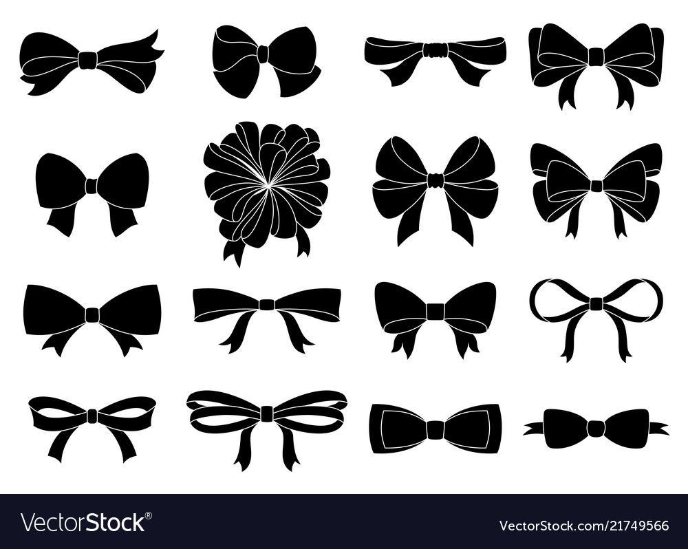 Set of decorative bow for your design