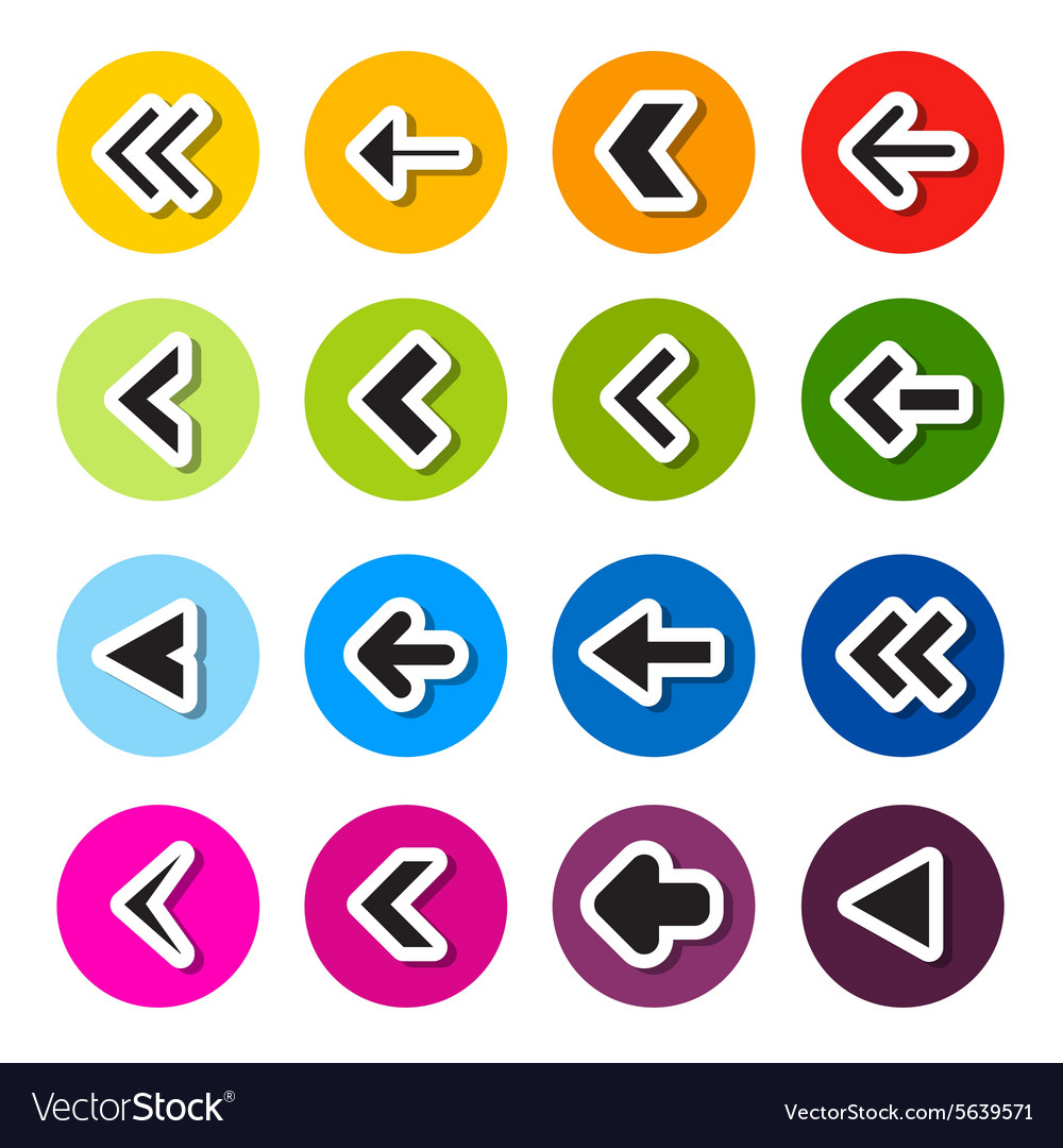Colorful Circle Arrows Set vector image
