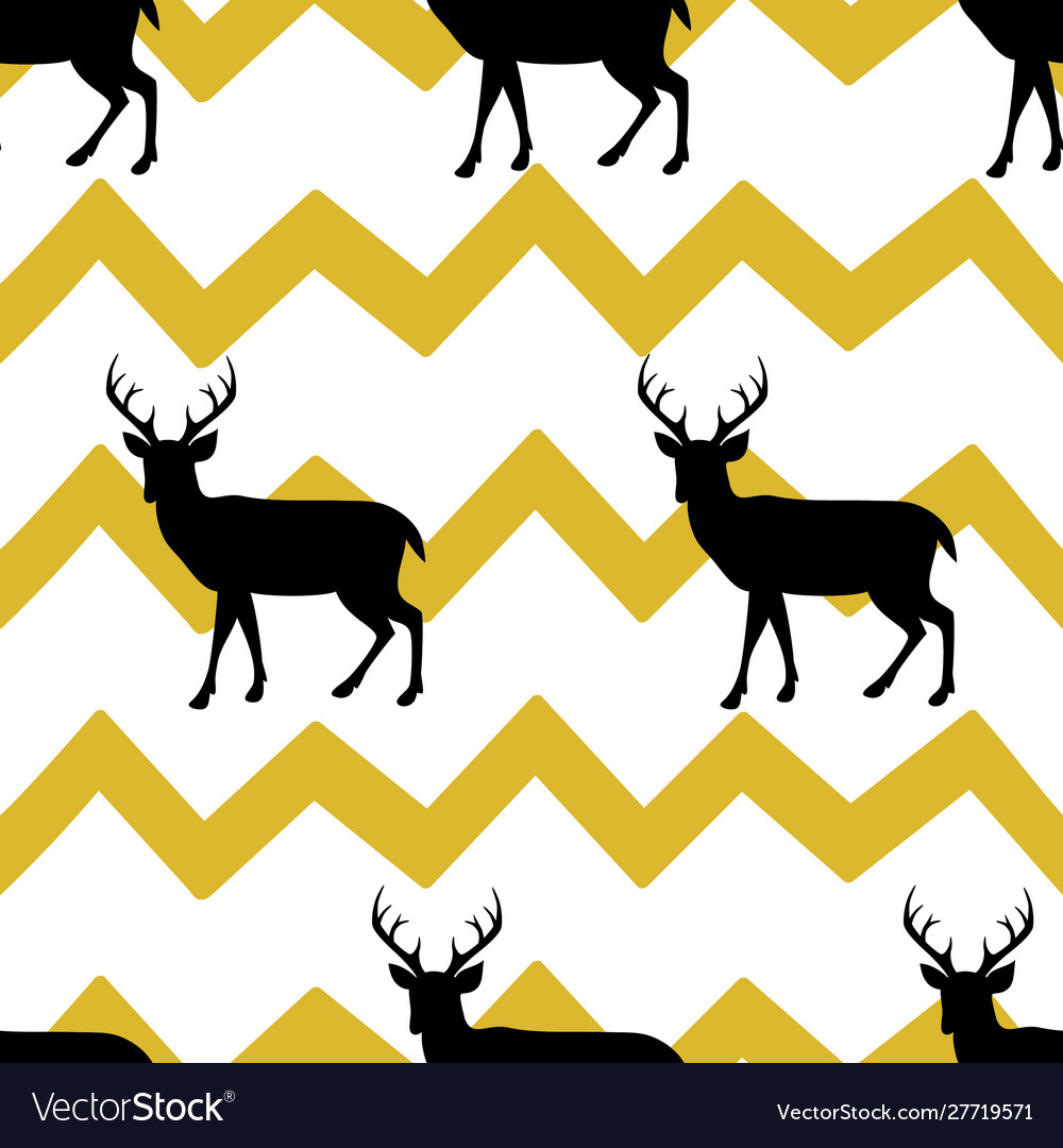 Festive seamless background with deer