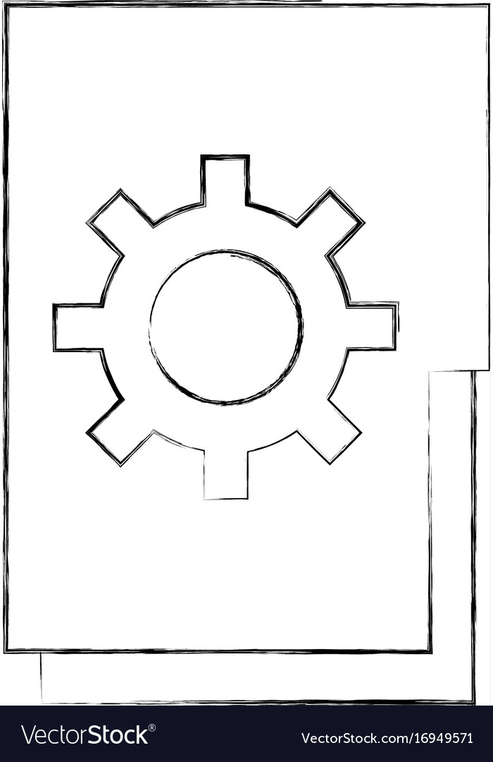 Folder document with gear