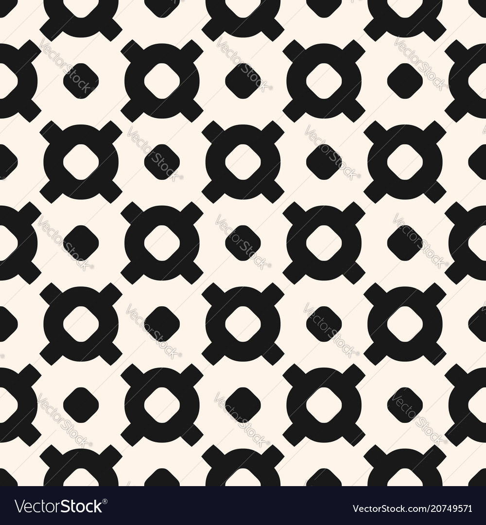 Geometric seamless pattern with circles crosses