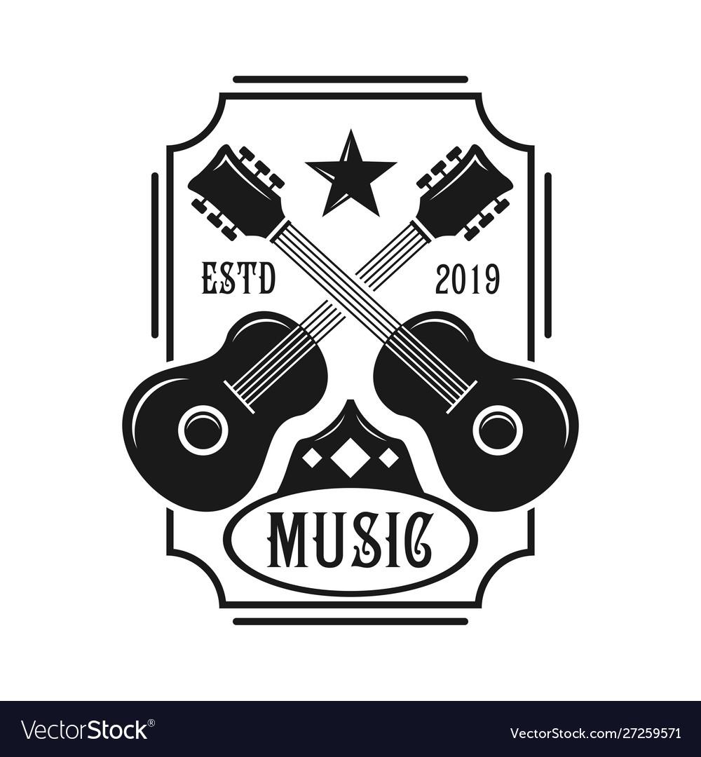 Guitar emblem logo
