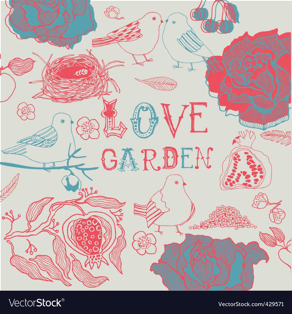 Love garden background