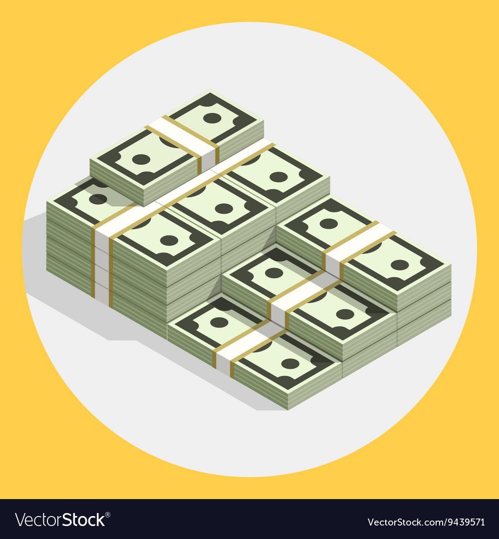 Piles stacks cash money flat