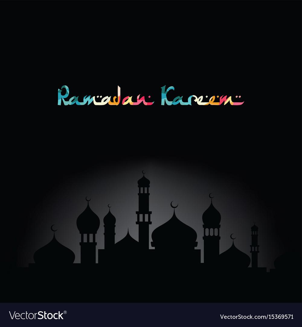 Ramadan kareem greeting muslim islamic celebration ramadan kareem greeting muslim islamic celebration vector image m4hsunfo
