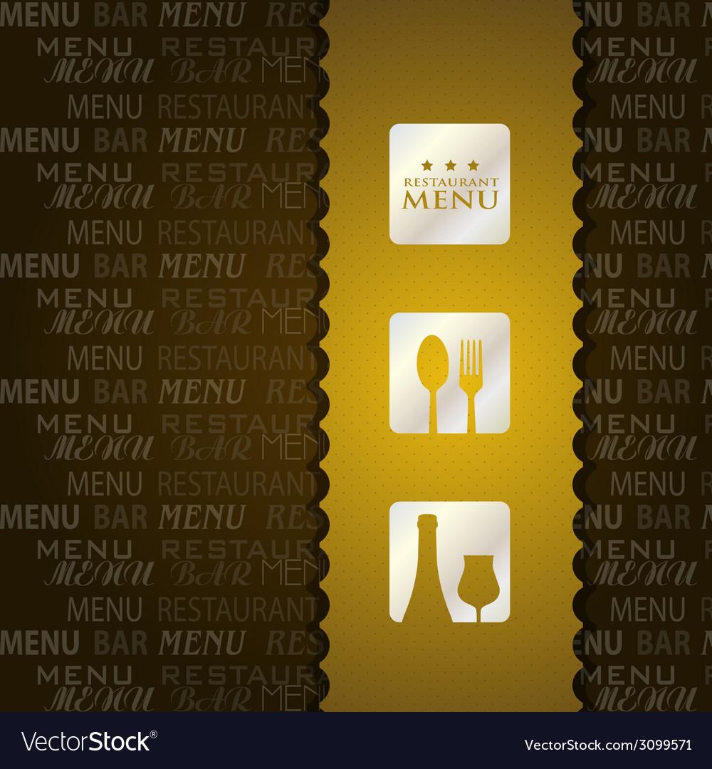 Restaurant menu presentation in brown background