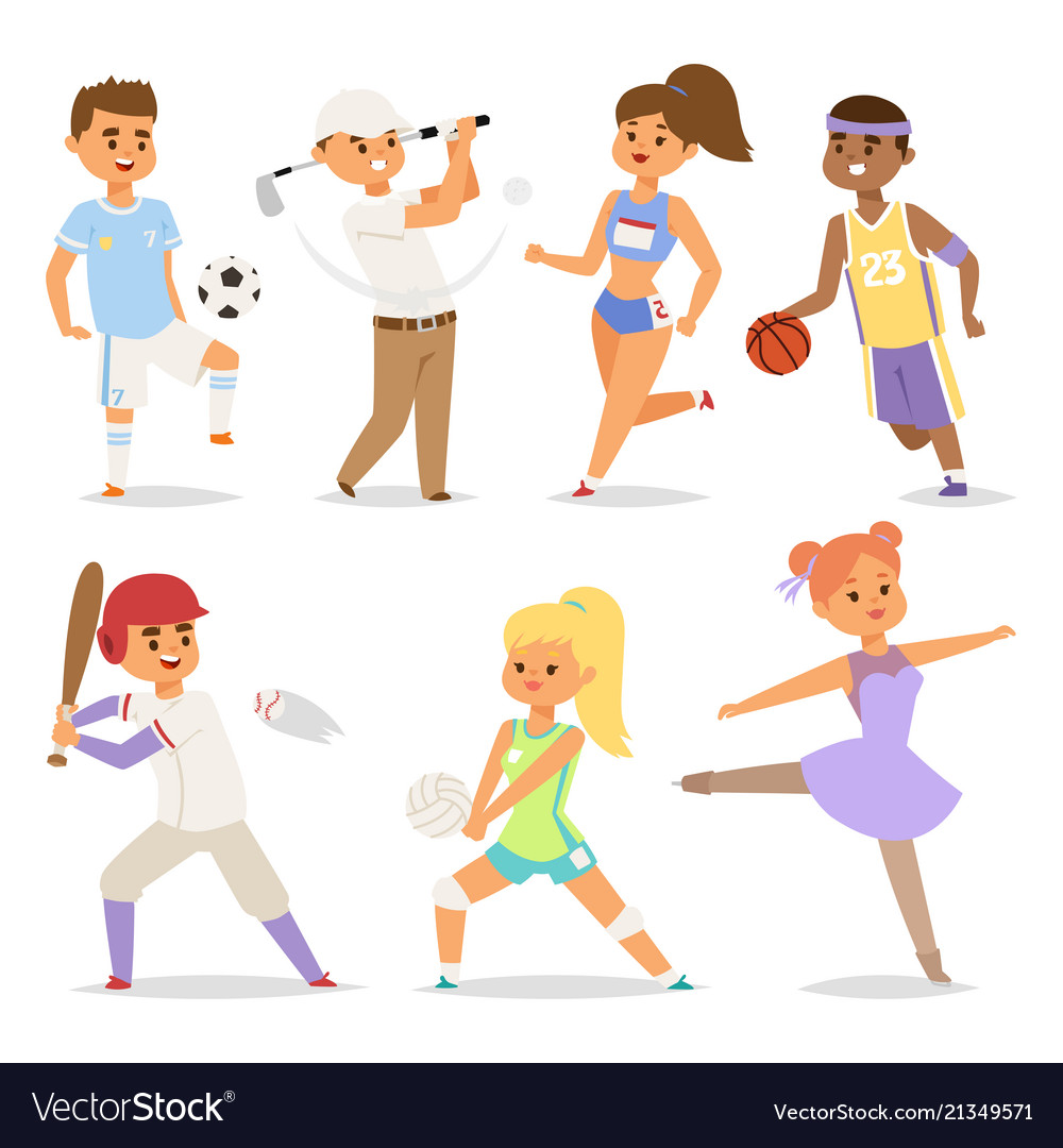 Sport wellness people characters sporting