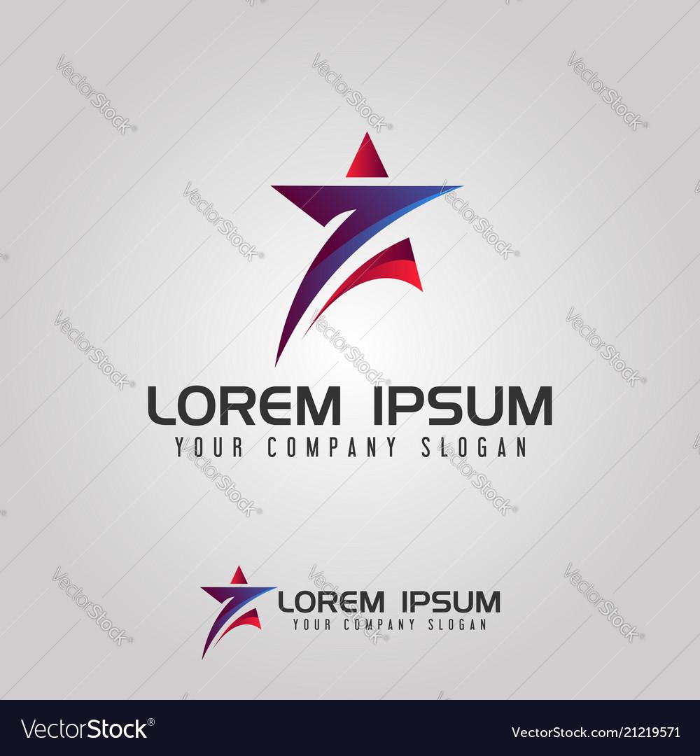 Star logo seven design concept template