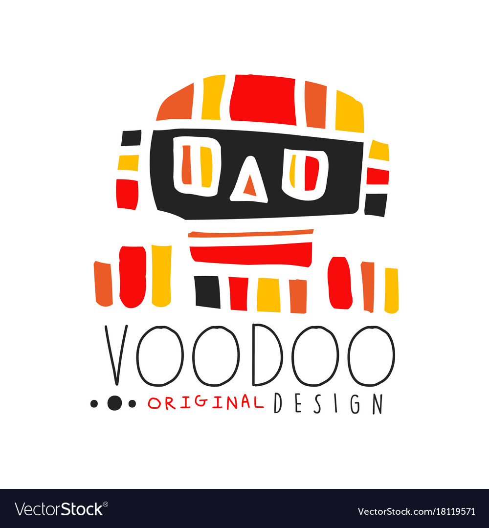 Voodoo african and american magic logo with