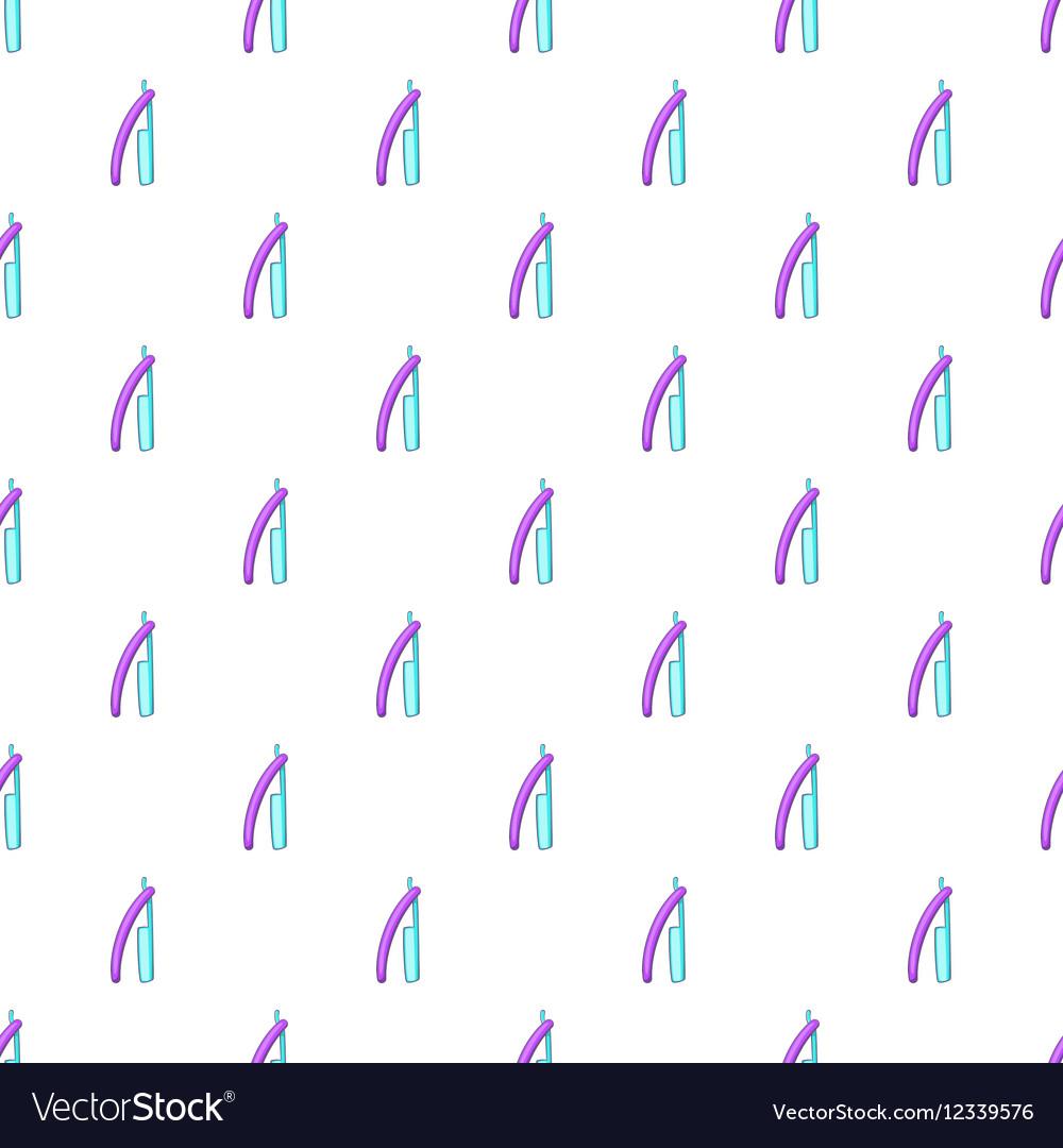 Bladed razor pattern cartoon style