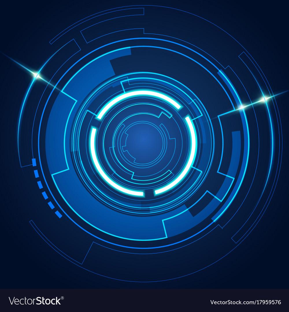 futuristic circle royalty free vector image vectorstock