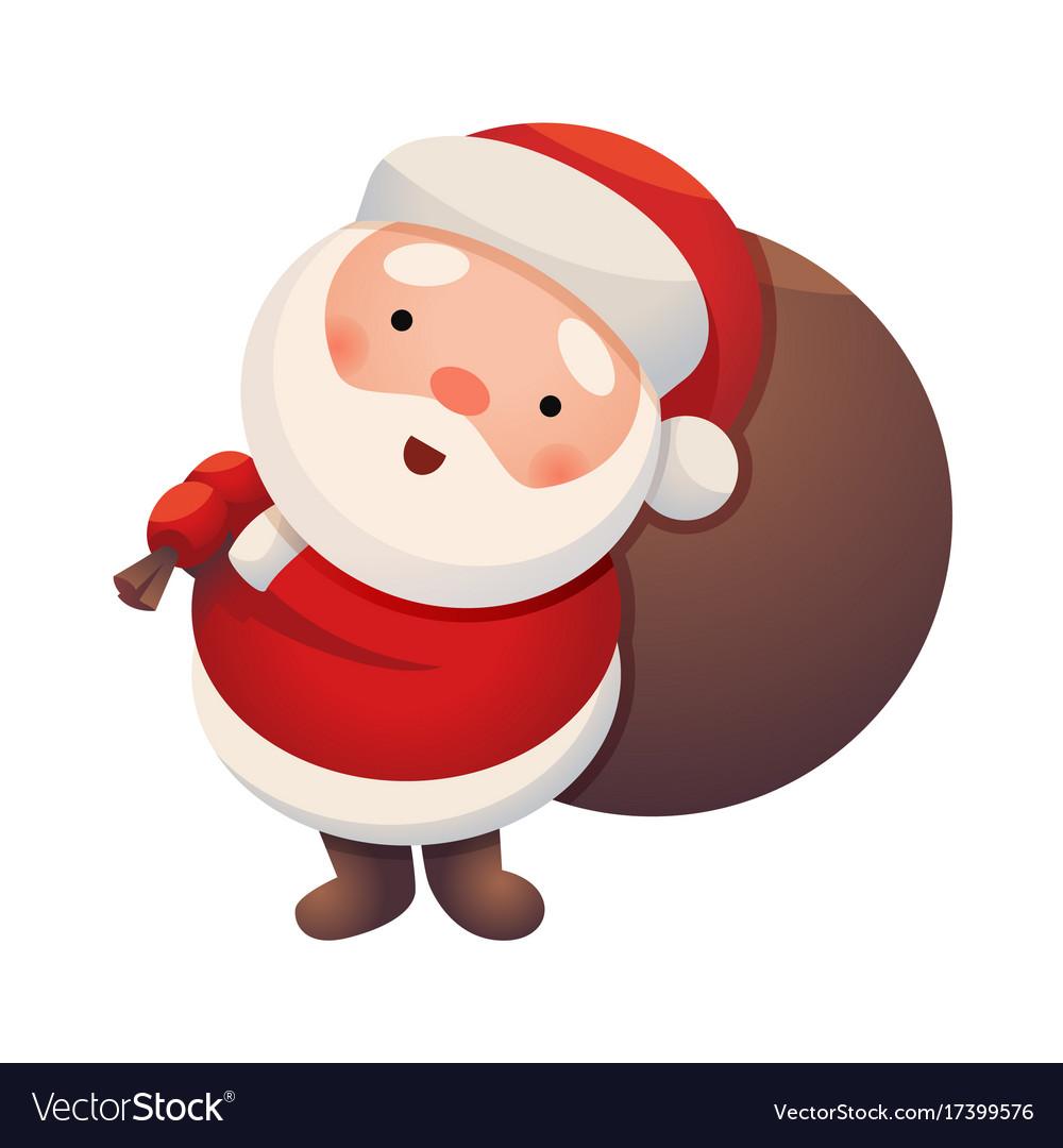 Santa claus on white background sticker jolly