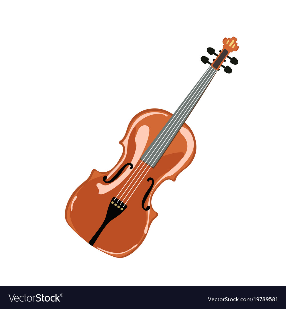 Classic violin isolated