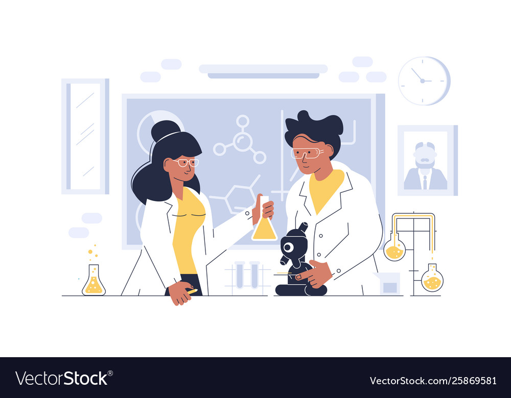 Doctors working at laboratory
