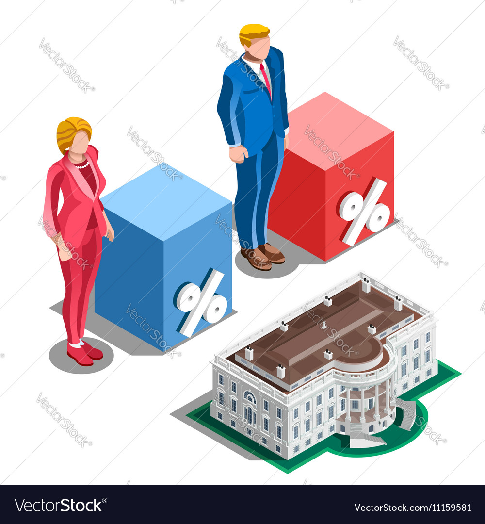 Election Infographic Presidential Pools Isometric