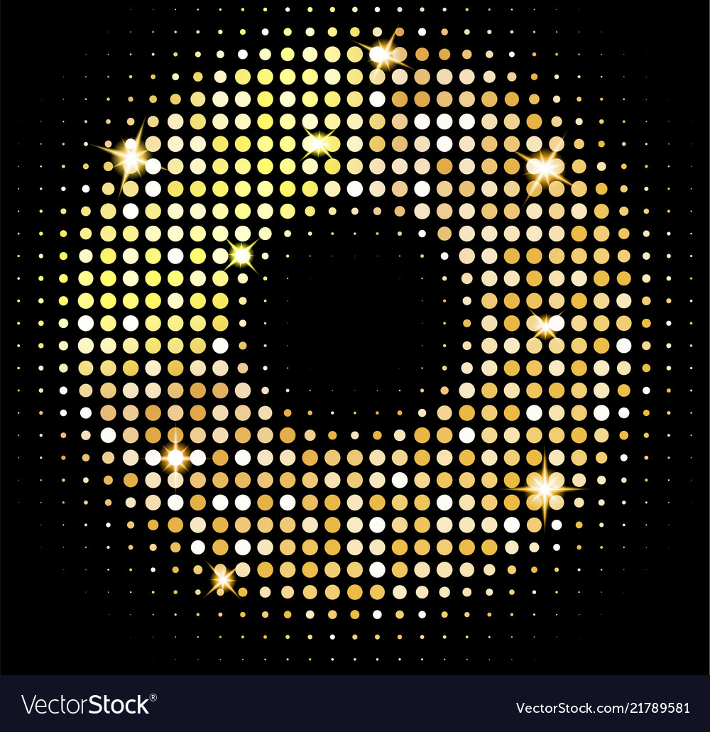 Gold disco lights background golden shiny