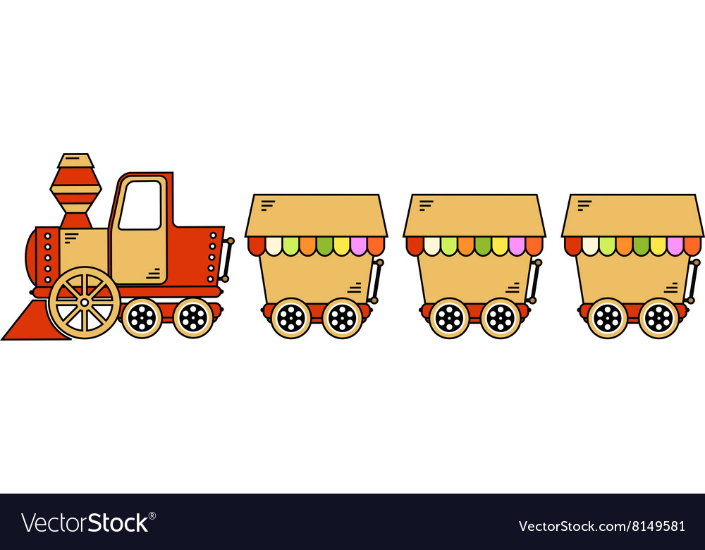 Locomotive-With-Wagons-380x400 vector image