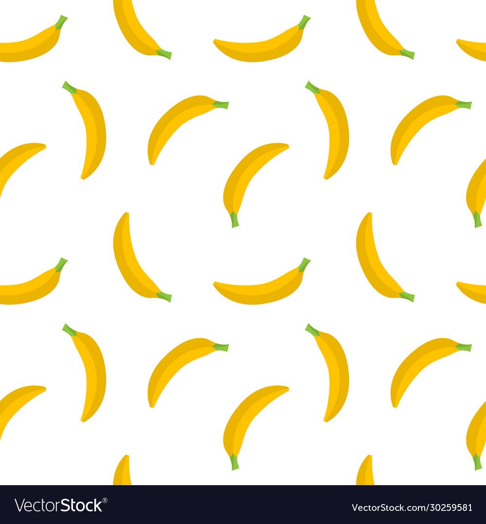 Seamless pattern yellow bananas on a white