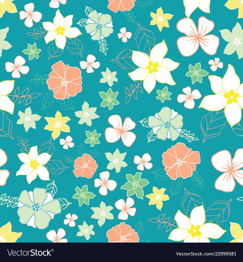 Seamless repeat floral pattern