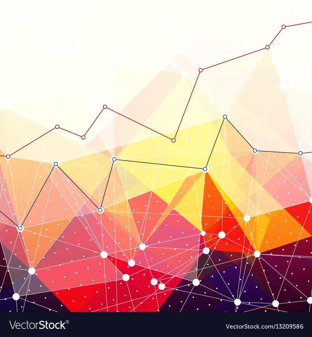 Abstract colorful triangles background Business