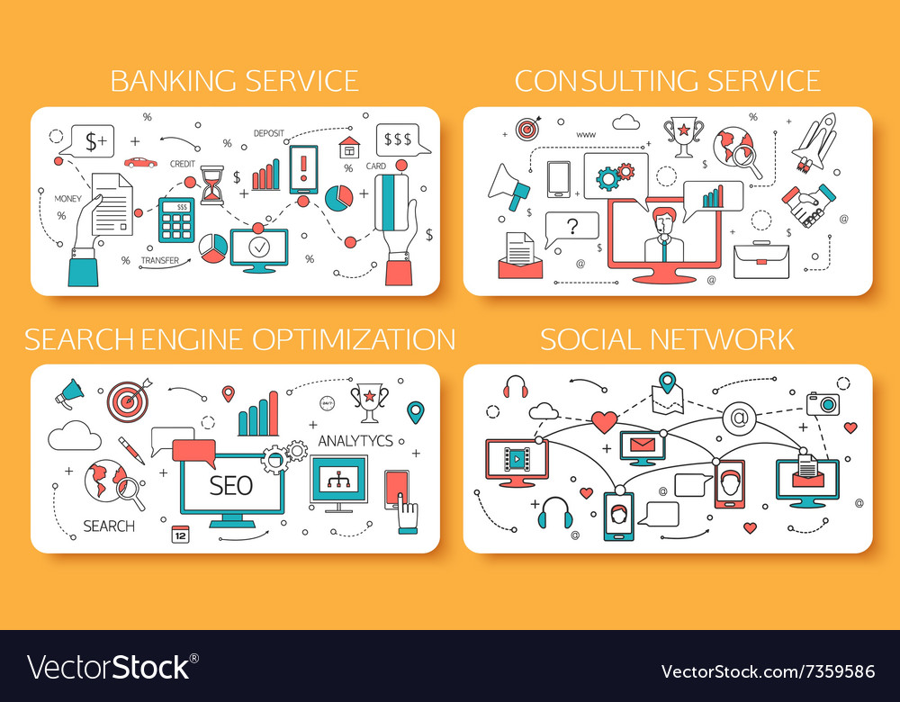 Banking service Consulting service SEO Social