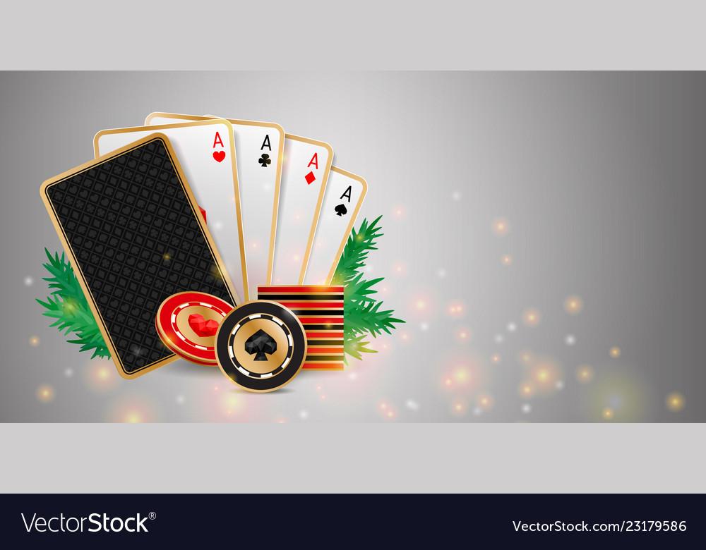 Christmas casino banner