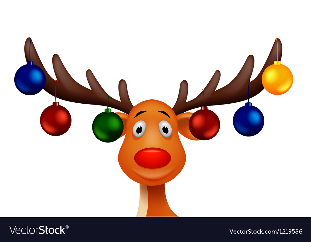 Cute Deer with christmast ball
