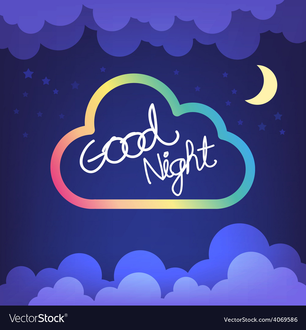 Good Night Goodnight Vector Images 35