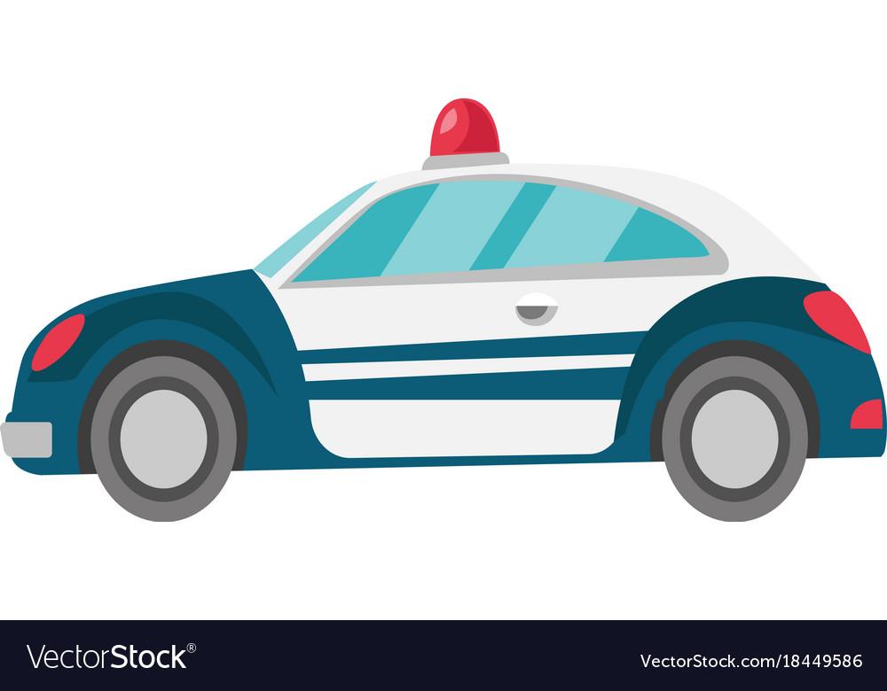 Police car cartoon vector image