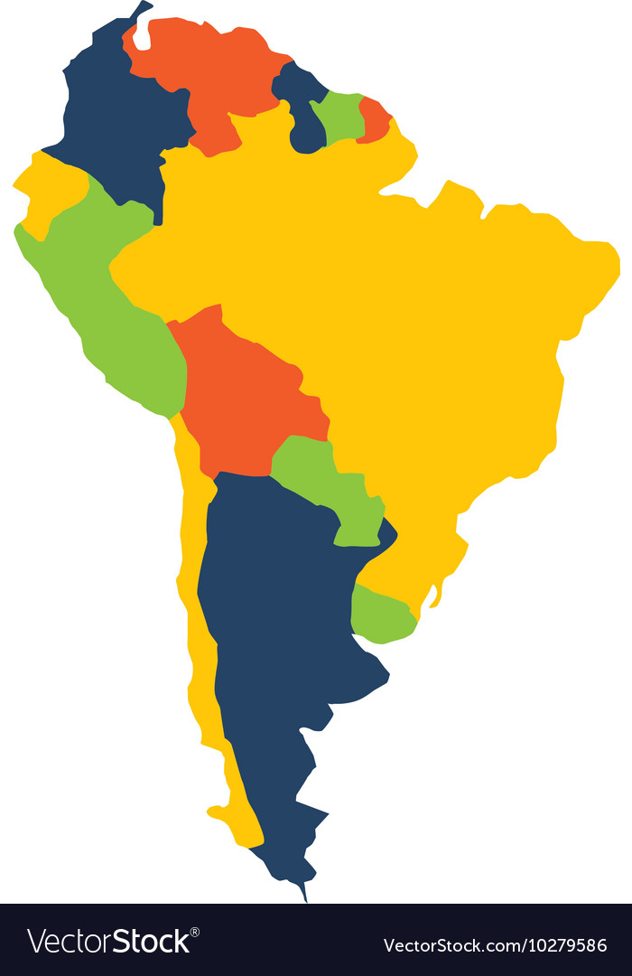 South american map isolated icon Royalty Free Vector Image