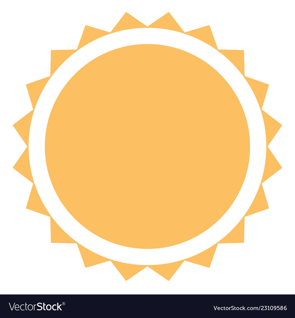 Sun icon on white background flat style sun icon