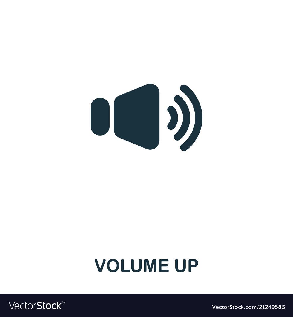 Volume up icon line style icon design ui