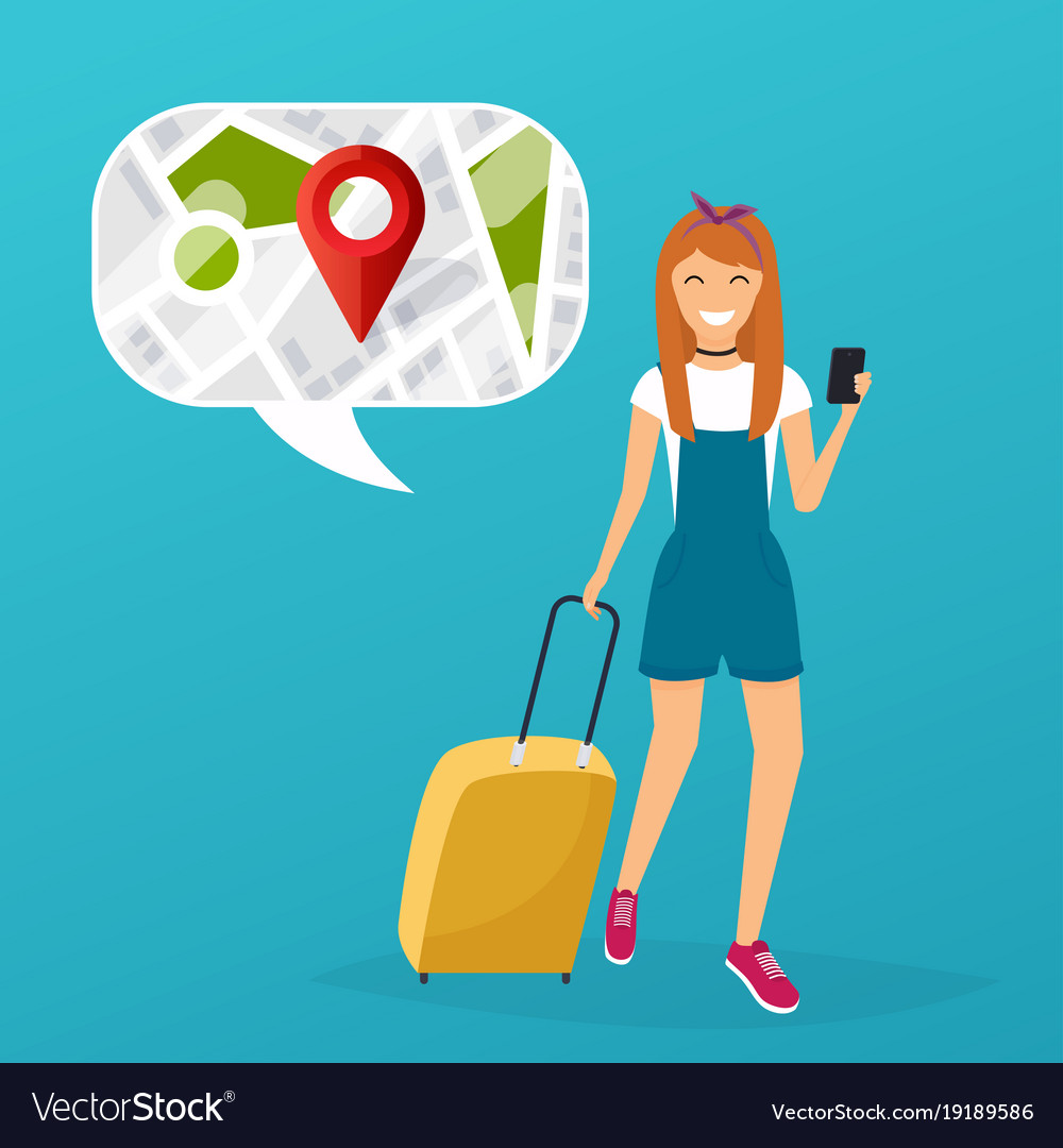 Young woman holding mobile smart phone with