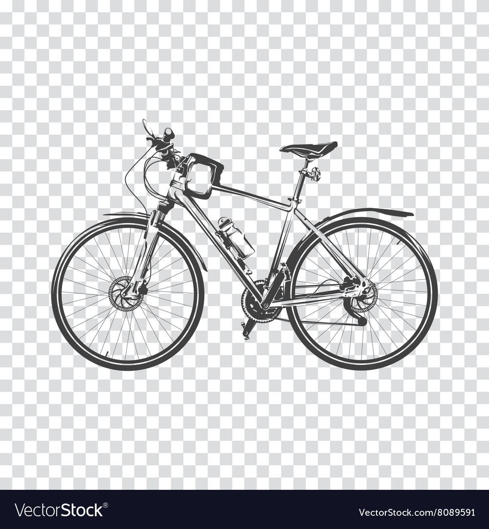 Bike a transparent background bicycle silhouette vector image voltagebd Image collections