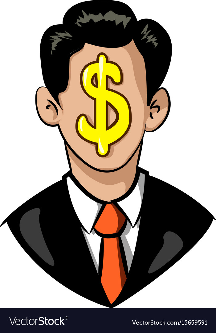 Cartoon image of businessman icon leadership