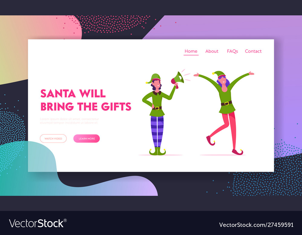 Christmas holiday celebration website landing page