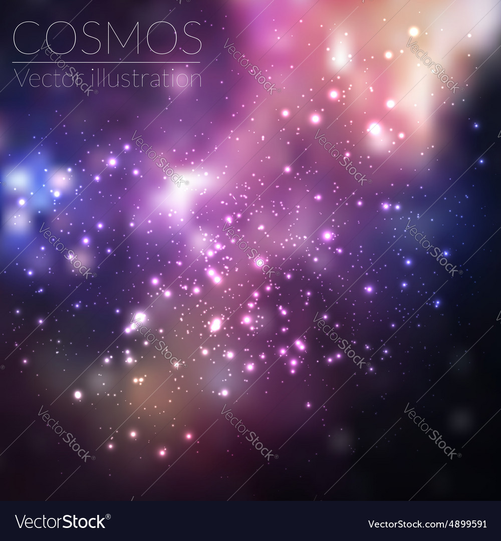 Cosmos with stars and galaxy