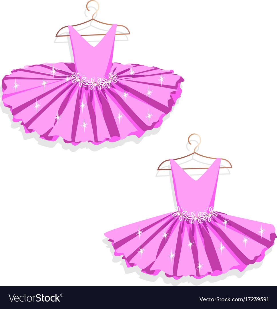 Dance dress on a hanger