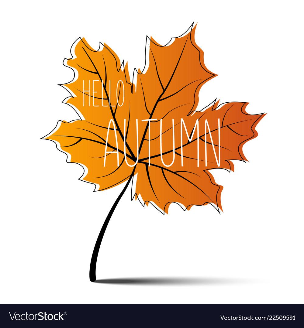 Hello autumn autumn leaf autumn banner