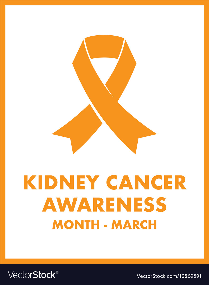 Kidney Cancer Awareness Royalty Free Vector Image